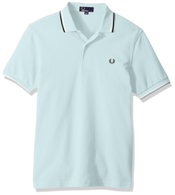Fred PerryメンズTwin Tipped Shirt B071LG12YD M Del La Mar Del La Mar M