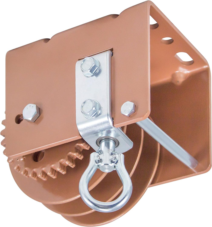 1500 lb WG1500SR Worm Gear Winch with Split Reel Load Capacity Goldenrod Dutton-Lainson Company