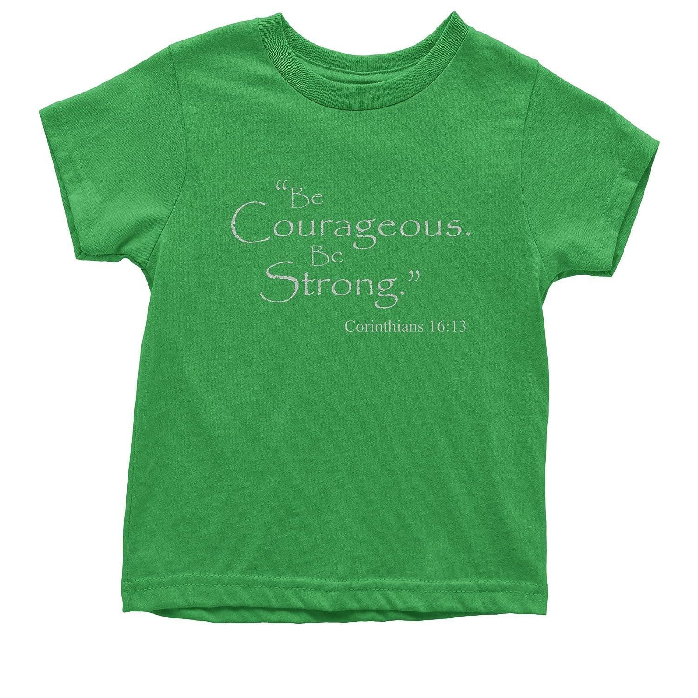 FerociTees Be Courageous Be Strong Bible Verse Youth T-Shirt