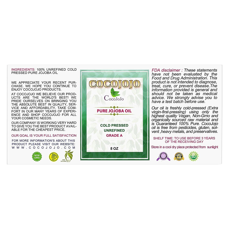 Amazon.com: Aceite de Jojoba orgánico prensado en ...