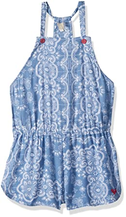 ec79d677d9 Amazon.com: Roxy Big Girls' Salt Memory Cover-up Romper, Blue Shadow ...