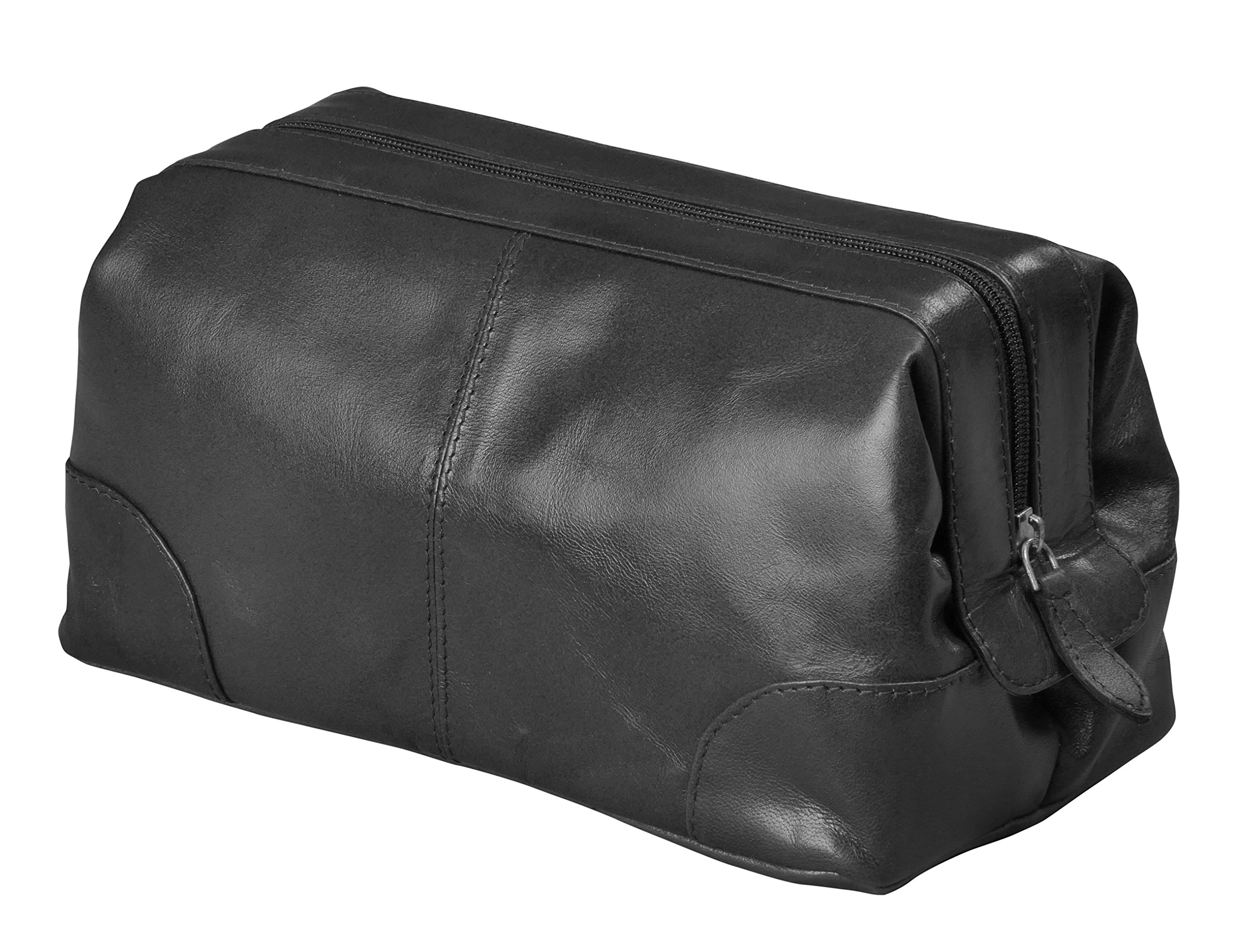 Mens Toiletry Bag Dopp Kit by Bayfield Bags-Small Compact Minimalist Glossy  Leather Shaving Kit 404143462f1ff