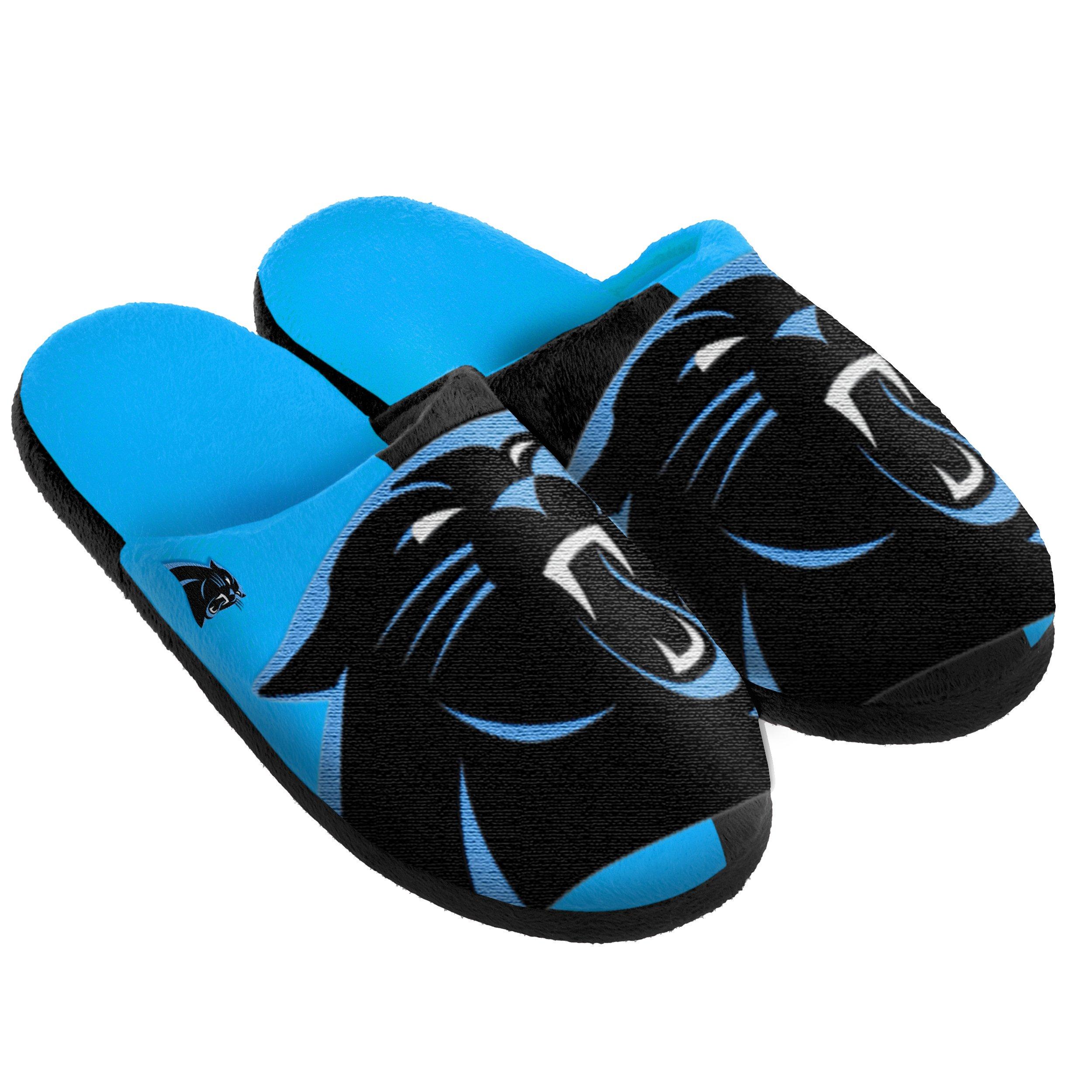 FOCO Carolina Panthers Split Color Slide Slipper Small