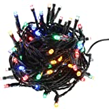 Festive Productions 300L LED Lights with Green Cable, Multicolour