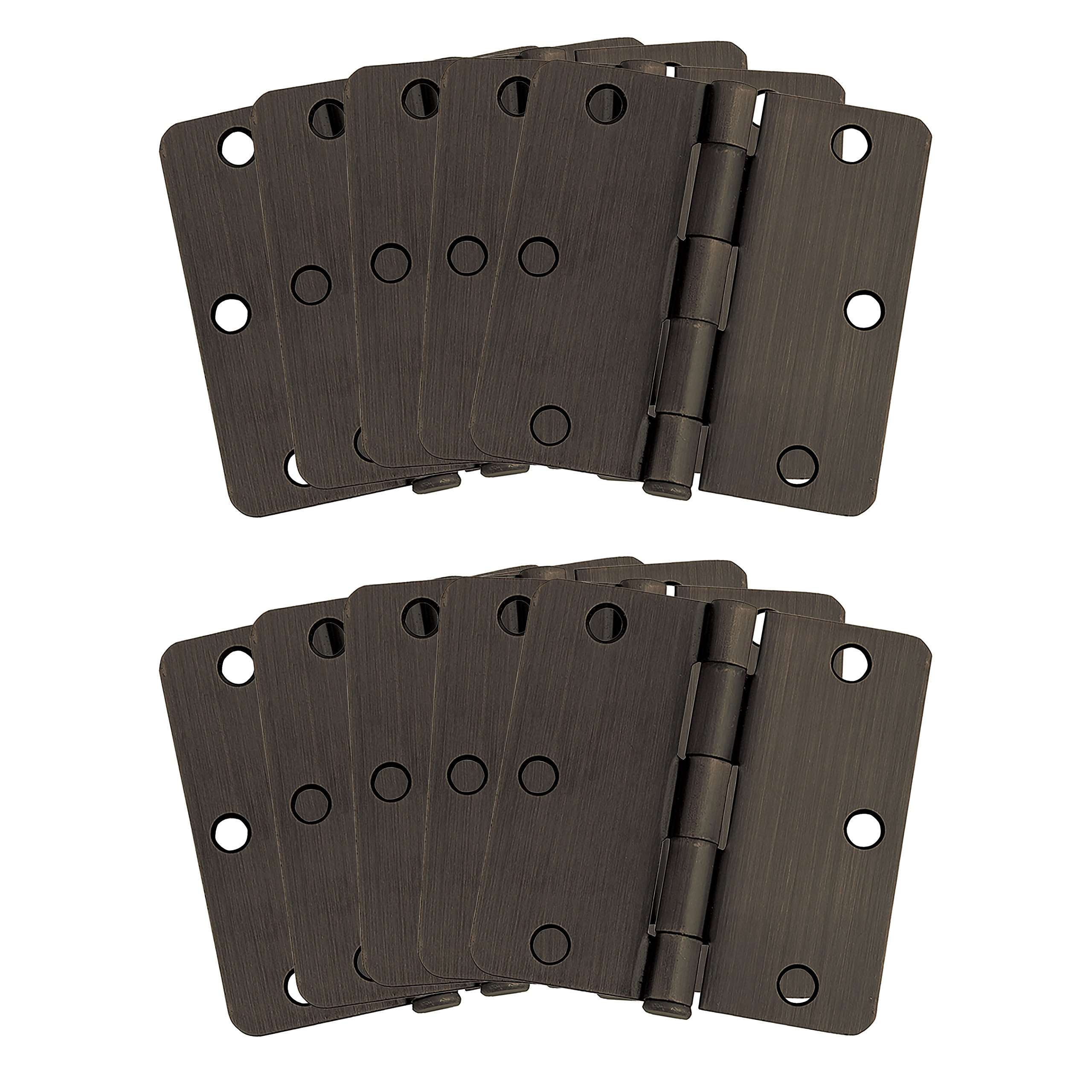 Design House 181388 10-Pack Hinge 3.5'', Oil Rubbed Bronze