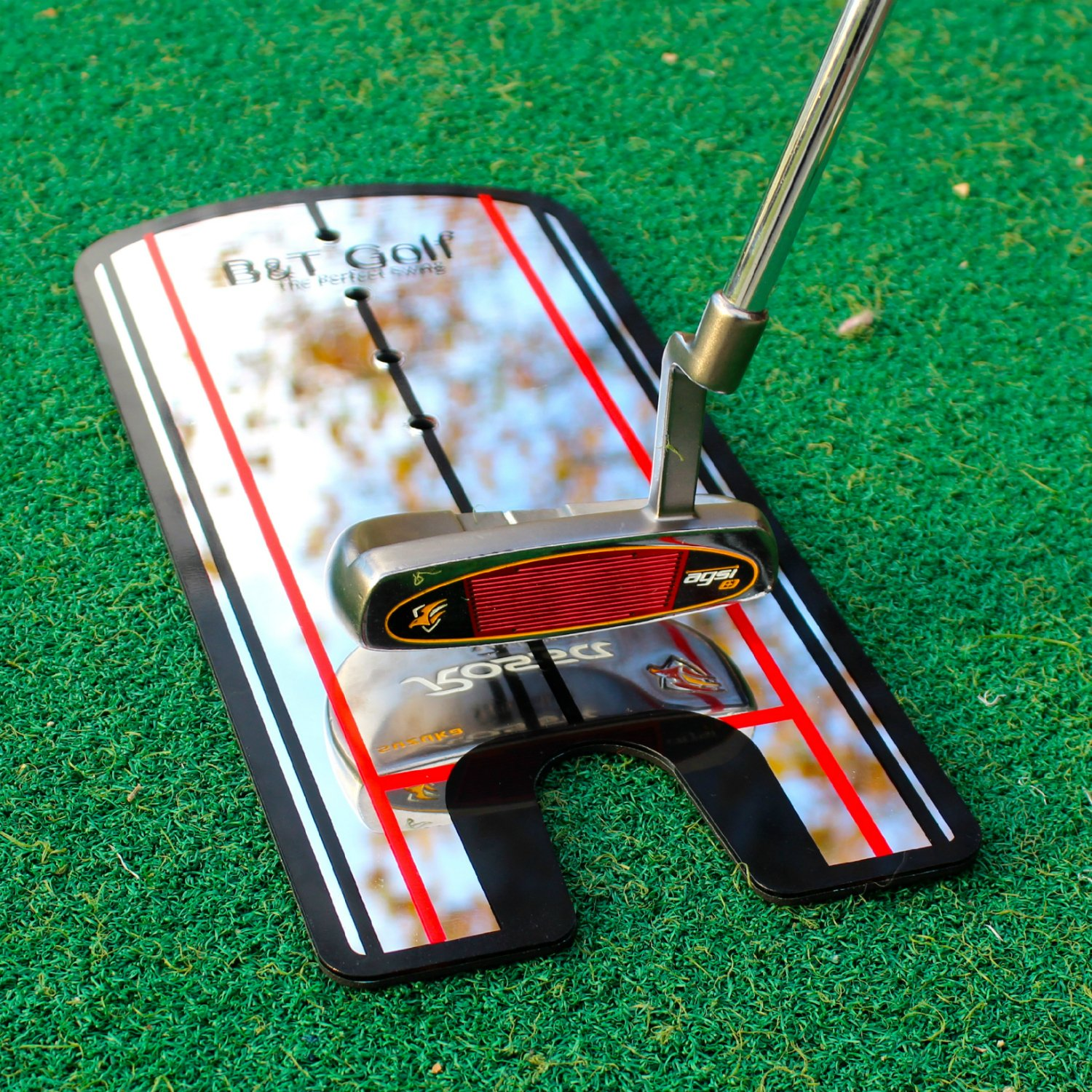 Golf Putting Alignment Mirror Training Aid – Practice Your Putting Alignment Tool