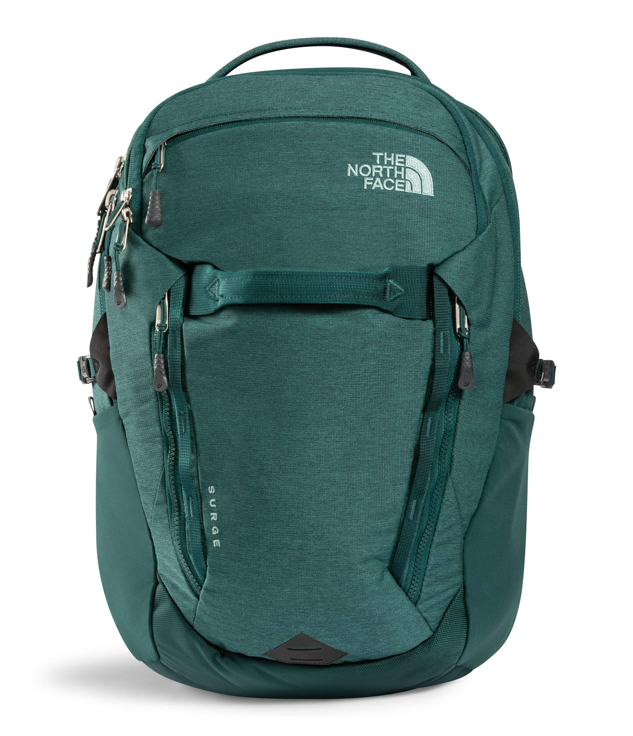 The North Face Women's Surge Backpack, Ponderosa Green Light Heather/Trellis Green by The North Face