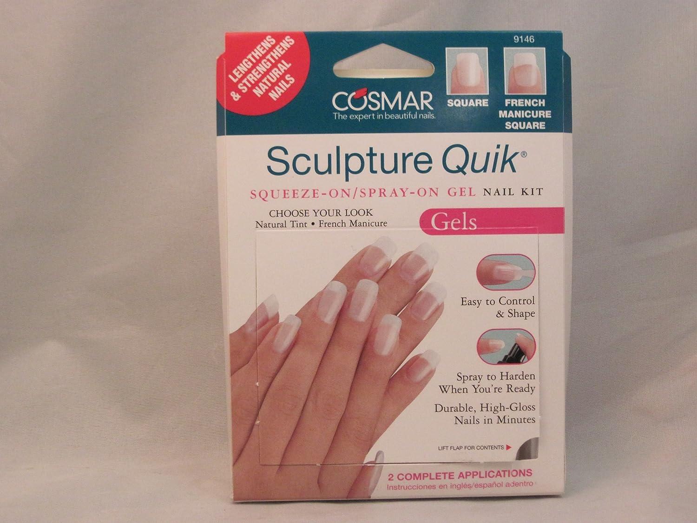 Amazon.com : Cosmar Sculpture Quik Squeeze-on/spray-on Gel Nails Kit ...