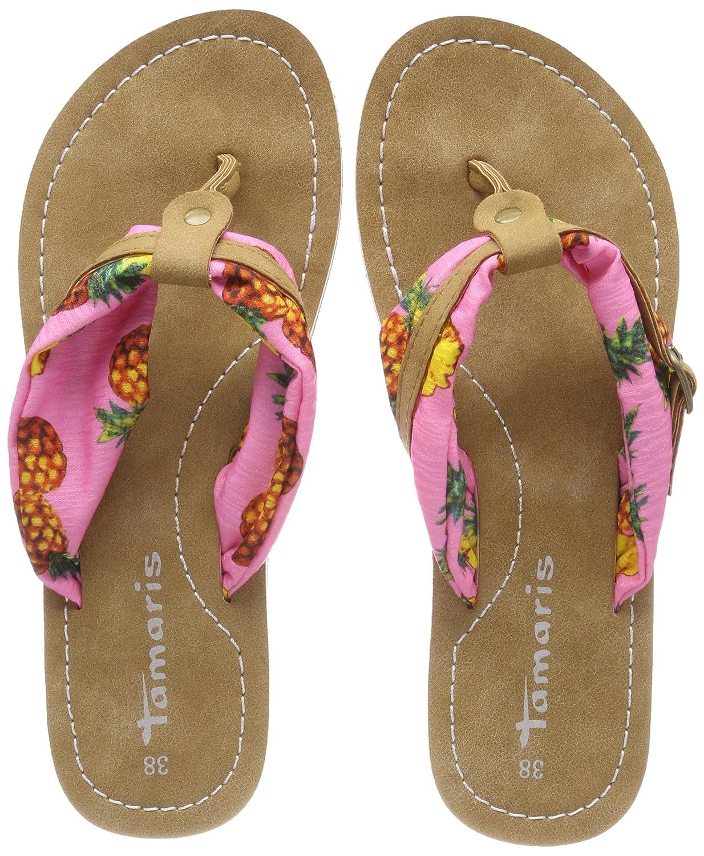 Tamaris Damen 27109 Pantoletten  41 EU|Pink (Pink Pineapple)