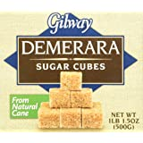Gilway Demerara Sugar Cubes , 17.5 Ounce (Pack of 2)