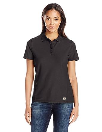 7aa3905e Carhartt Women's Contractor's Short Sleeve Work Polo at Amazon ...