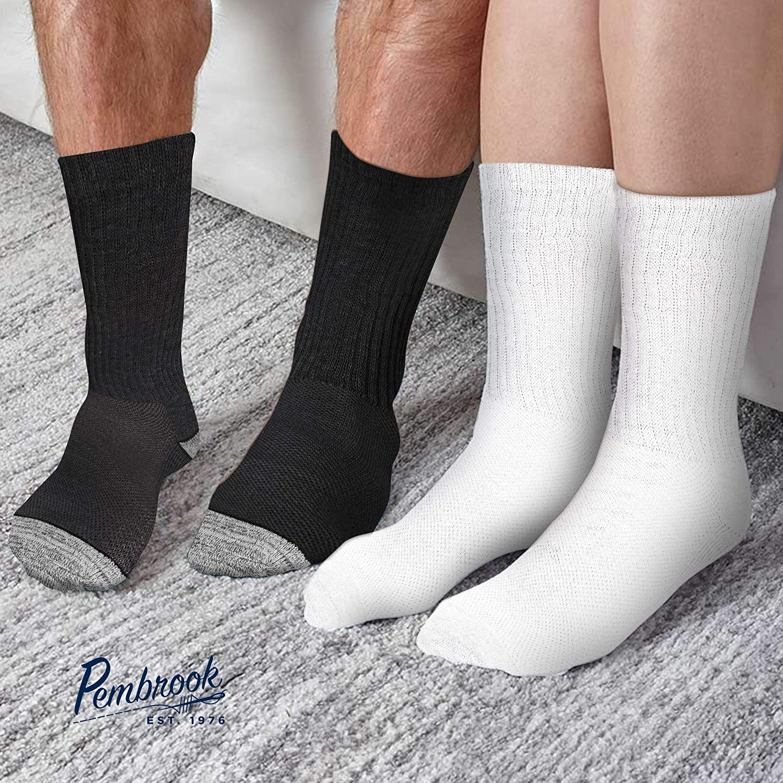 Diabetic Socks Women & Men   Wide Non Binding Edema, Neuropathy Socks (6-pairs): Clothing