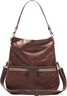 product image for Amber Italian Leather Large Convertible Foldover Crossbody