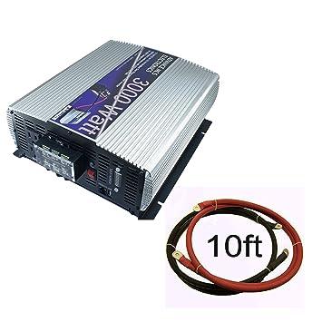 Amazon.com: 12 Voltios a 110 V DC to AC Power Inverter con ...