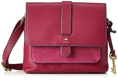 Online bestellen Großhandel billig für Rabatt Fossil Damen Kinley Umhängetasche, Rot (Raspberry Wine) 8.26x18.42x22.86 cm