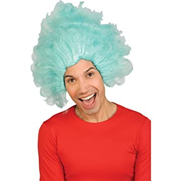 Rubie S Costume Co Dr Seuss Thing 1 Or Thing 2 Wig (Blue) Adult Halloween  Costume Accessory  Amazon.co.uk  Toys   Games 2140d4fb1a