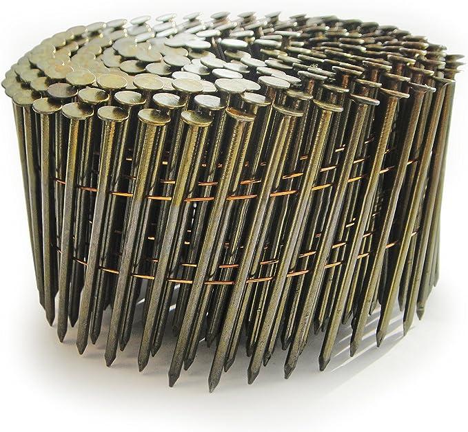 Set de 4000 Piezas 2.8x64mm Tacwise 0964 Bobina plana de clavos galvanizados y anillados 2.8//64 mm