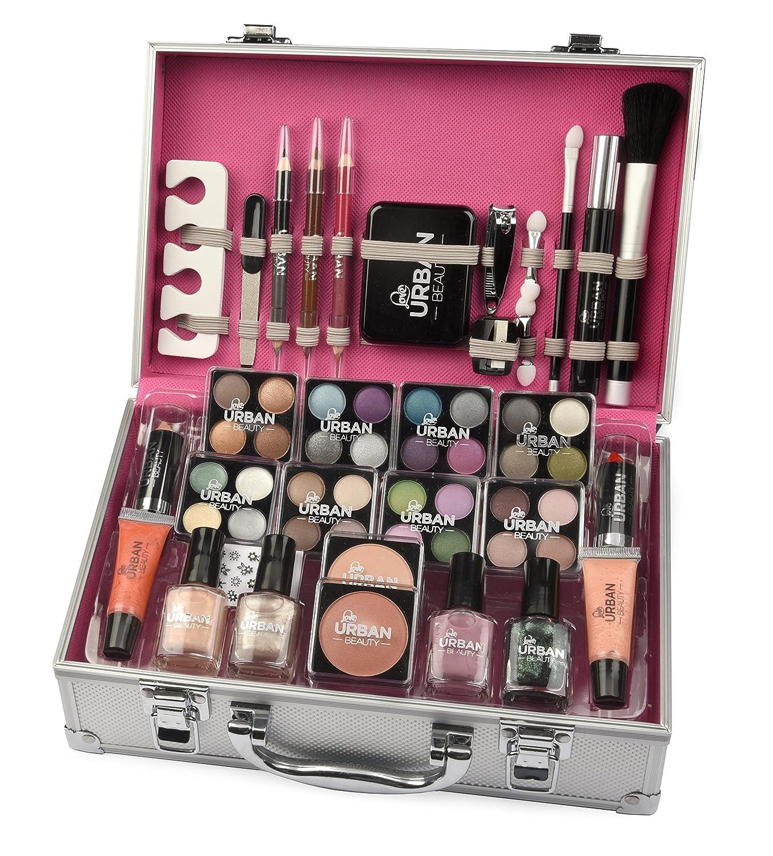 60e4dc582 Urban Beauty - Vanity Case Cosmetic Make Up Urban Beauty Box Travel Carry  Gift Storage 60 Piece: Amazon.co.uk: Beauty