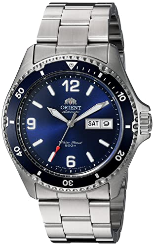 Orient Men's 'Mako II' Japanese Automatic Stainless Steel Diving Watch, Color Silver-Toned (Model: FAA02002D9)