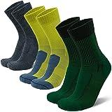 DANISH ENDURANCE Merino Wool Light Hiking Socks 3-Pack for Men, Women & Kids, Lightweight, Trekking, Outdoor
