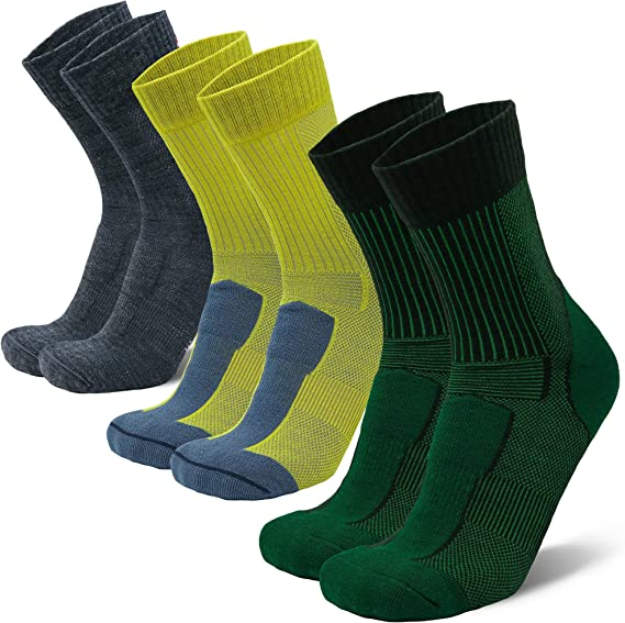 Women /& Kids Trekking DANISH ENDURANCE Merino Wool Hiking /& Walking Socks 3-Pack for Men Outdoor