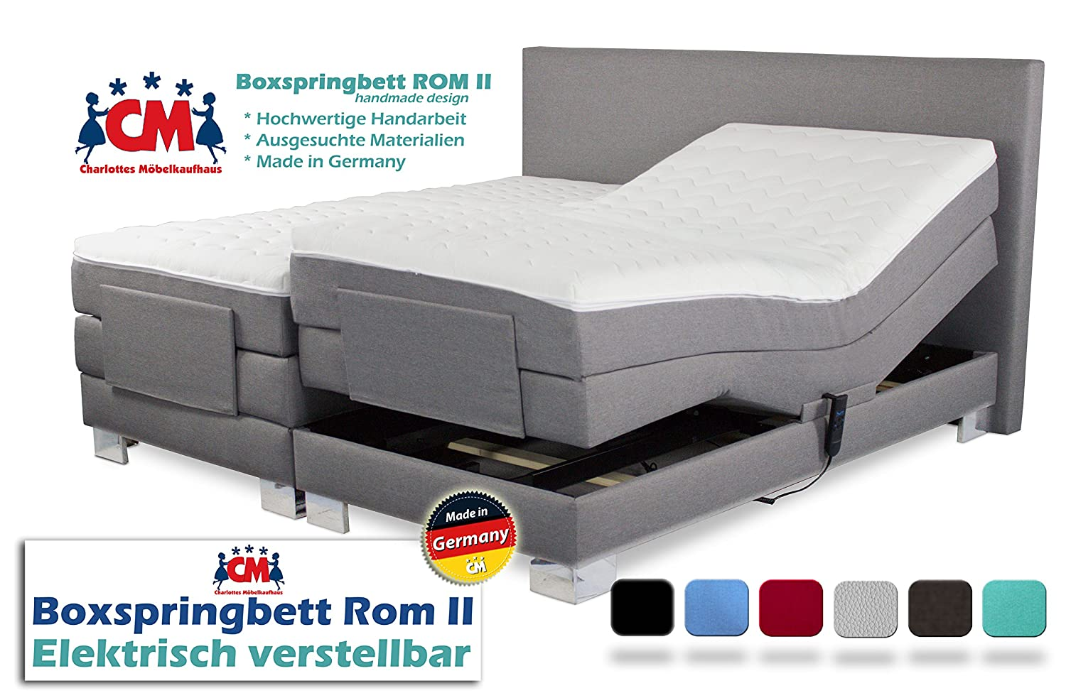 Glamorous Boxspringbett Verstellbar The Best Of Rom Ii Elektrisch In Verschiedenen Farben. Manufaktur