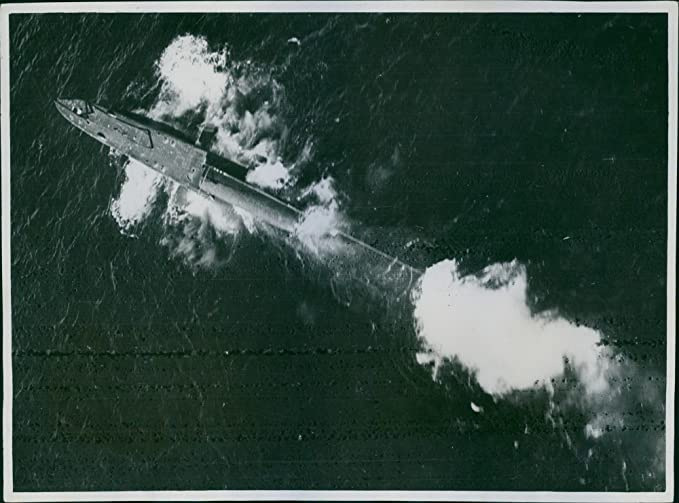 Amazon.com: Vintage photo of The submarine surfacing in a ...