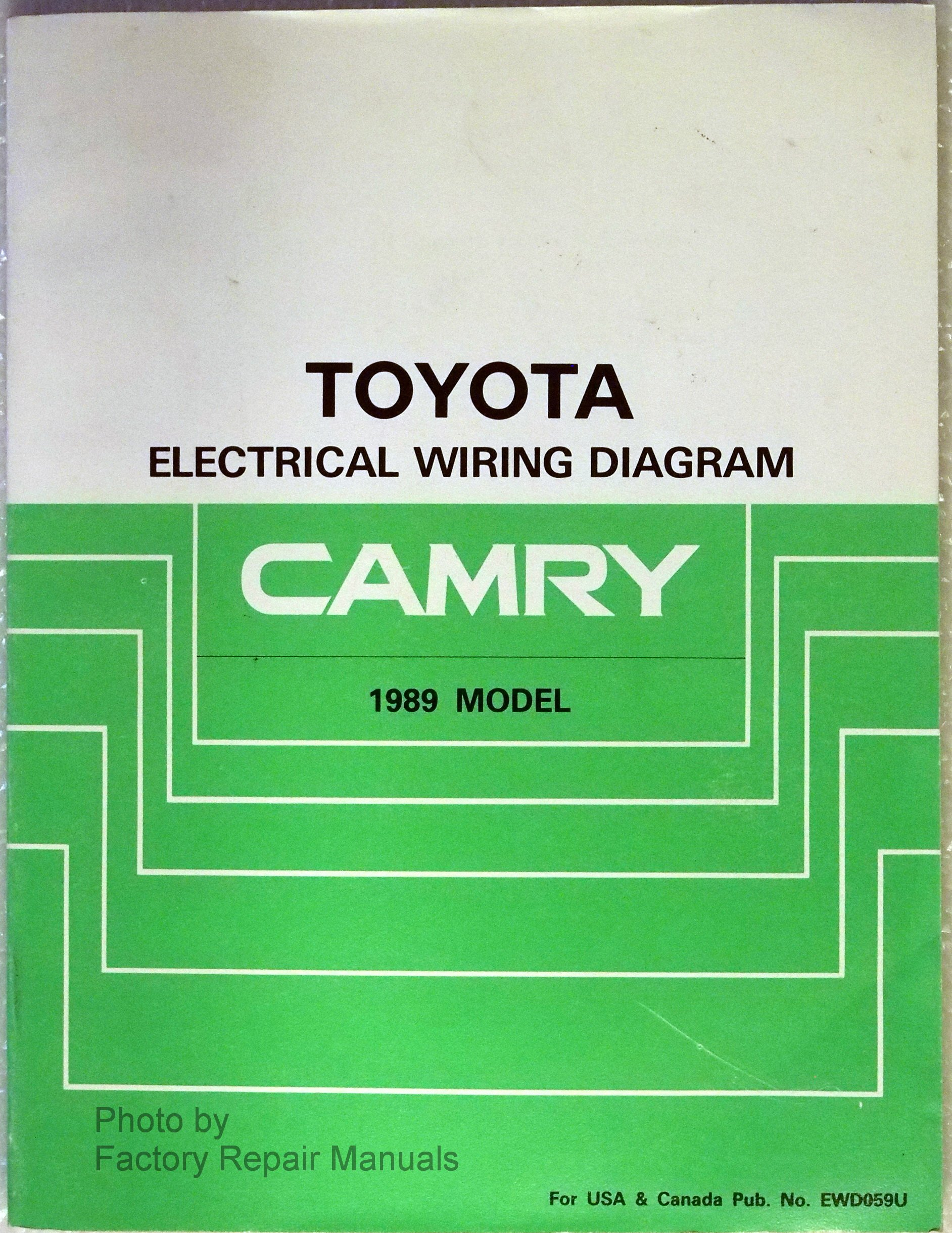 1989 Toyota Camry Electrical Wiring Diagram Manual (Toyota Electrical  Wiring Diagram Camry 1989 Model): Amazon.com: Books