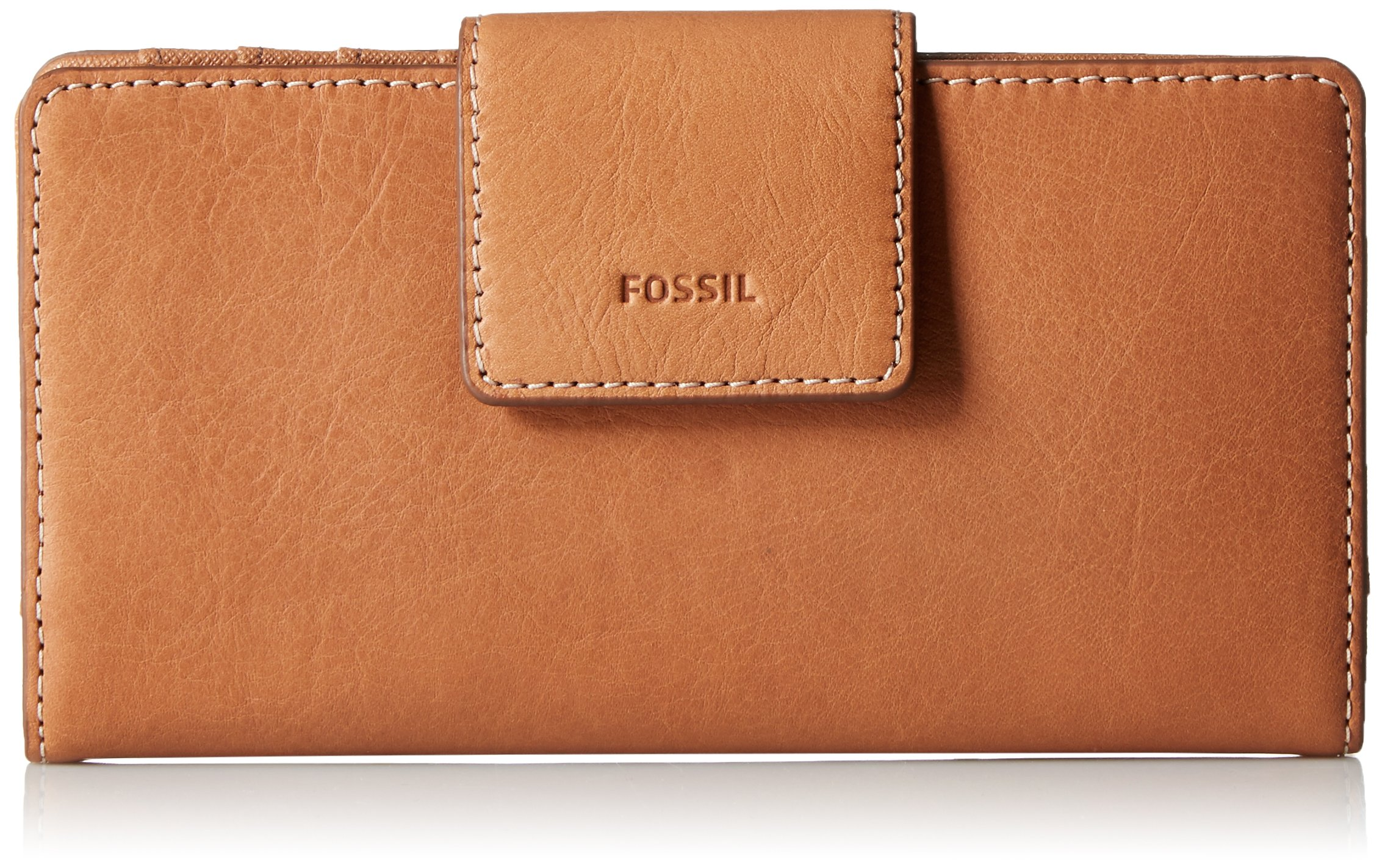 Fossil Emma Tab Clutch Rfid Tan, One Size
