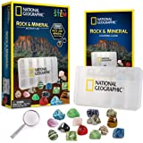 NATIONAL GEOGRAPHIC Rocks and Minerals Education Set – 15-Piece Rock Collection Starter Kit with Tiger's Eye, Rose…