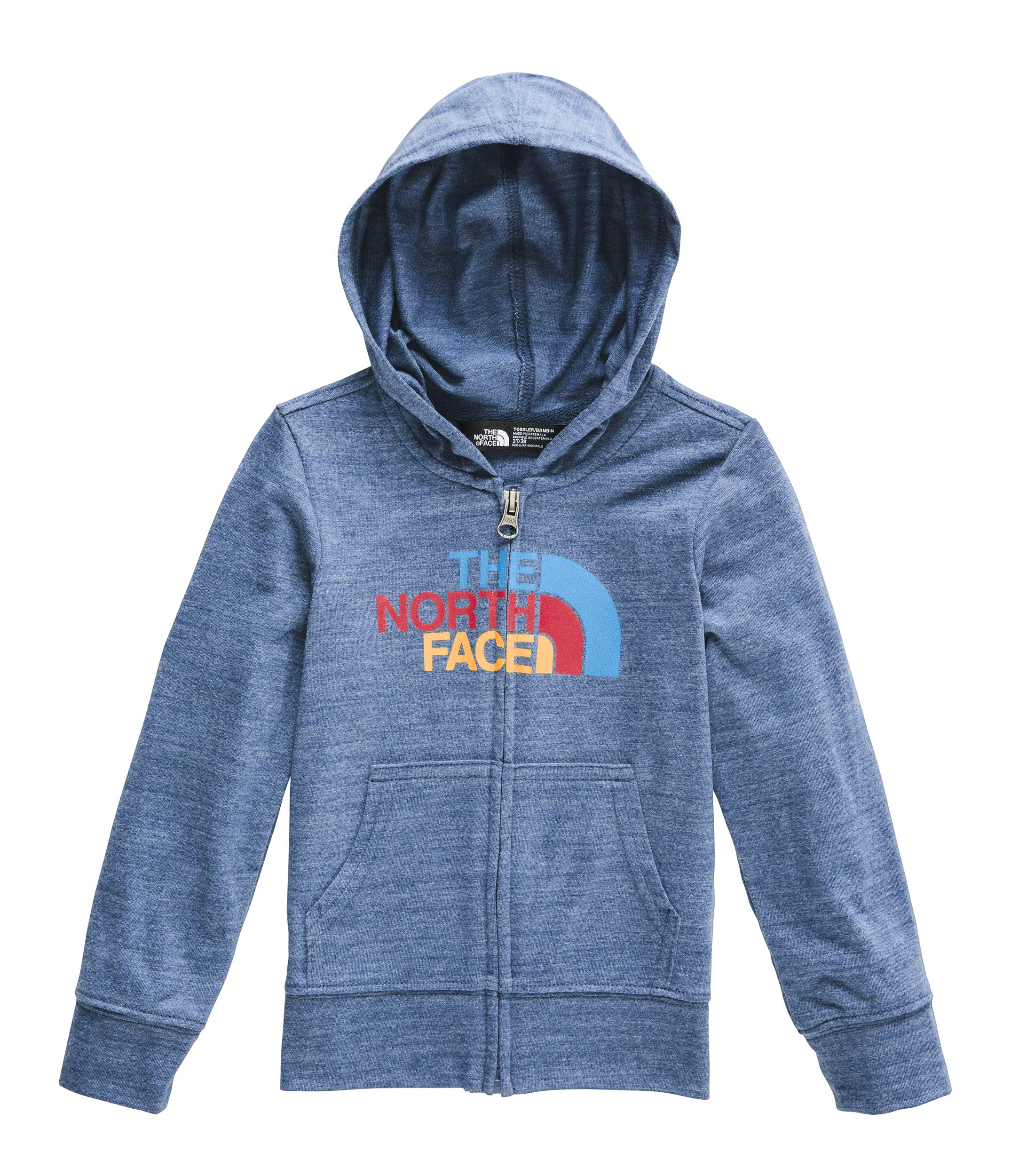 The North Face Kids Baby Boy's Tri-Blend Full Zip Hoodie (Toddler) Shady Blue Heather 4T