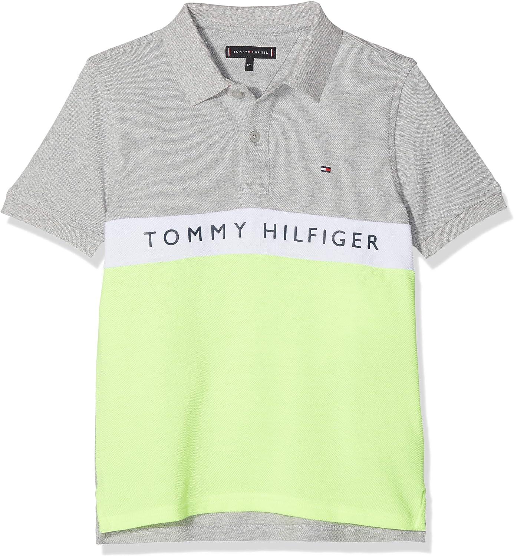 Tommy Hilfiger Essential Colorblock Stripe Polo, Gris (Grey Heather 004), 92 (Talla del Fabricante: 74) para Niños: Amazon.es: Ropa y accesorios