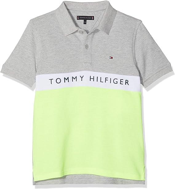 Tommy Hilfiger Essential Colorblock Stripe Polo Niños: Amazon.es ...
