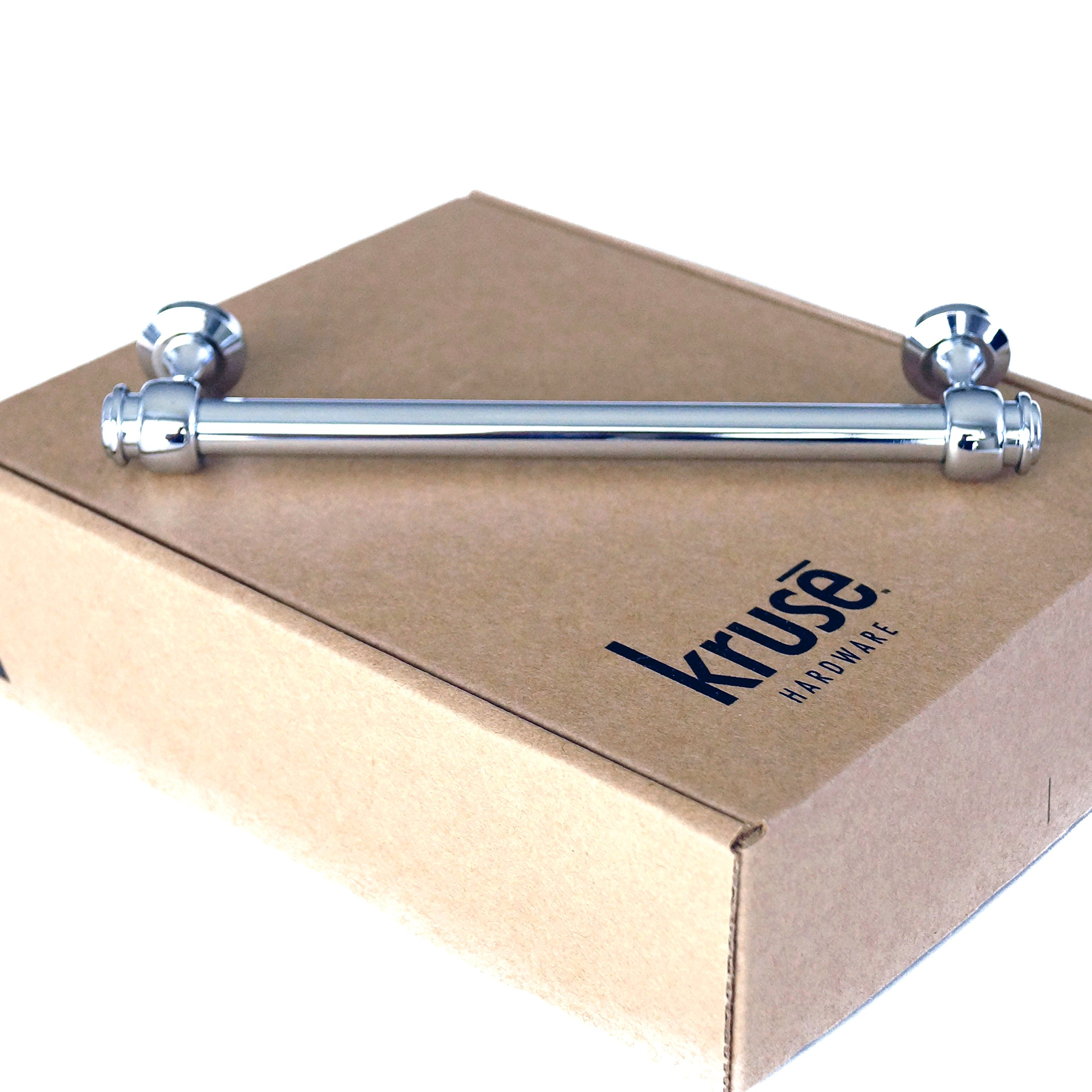 (Qty 10 per Package) Kruse Hardware - Milano Door and Drawer Pulls - 6in Center-to-Center, Polished Chrome