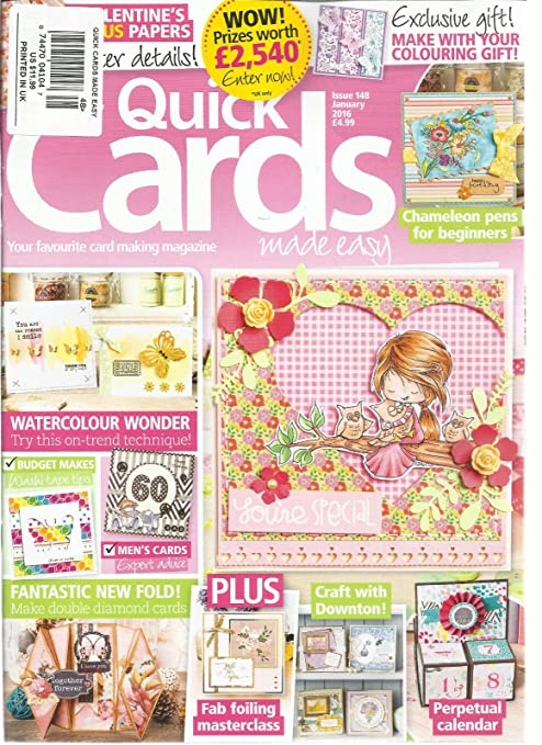 Amazon Com Quick Cards Made Easy January 2016 Issue 148 Your