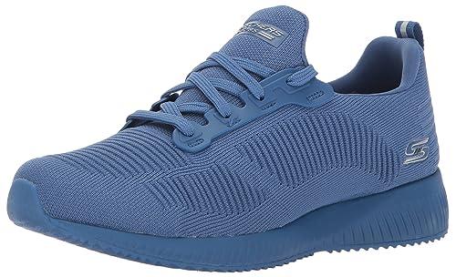 Bobs Skechers Équipe Double Osent, Des Chaussures Des Femmes Sans Lacets, Bleu (bleu Marine / Bleu), 39 Eu