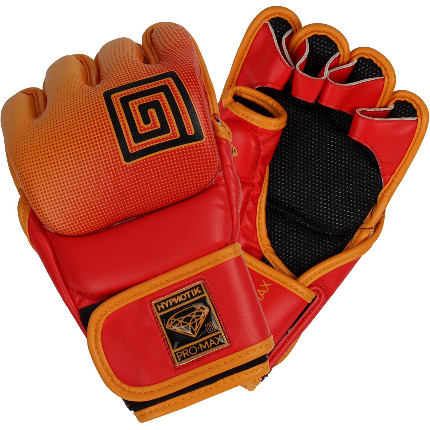 Hypnotik Promax MMAグローブ B077RHZJ1R Orange Fluorescent Large