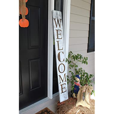 SmithFarmCo Welcome Sign for Front Porch(Farmhouse Distressed)