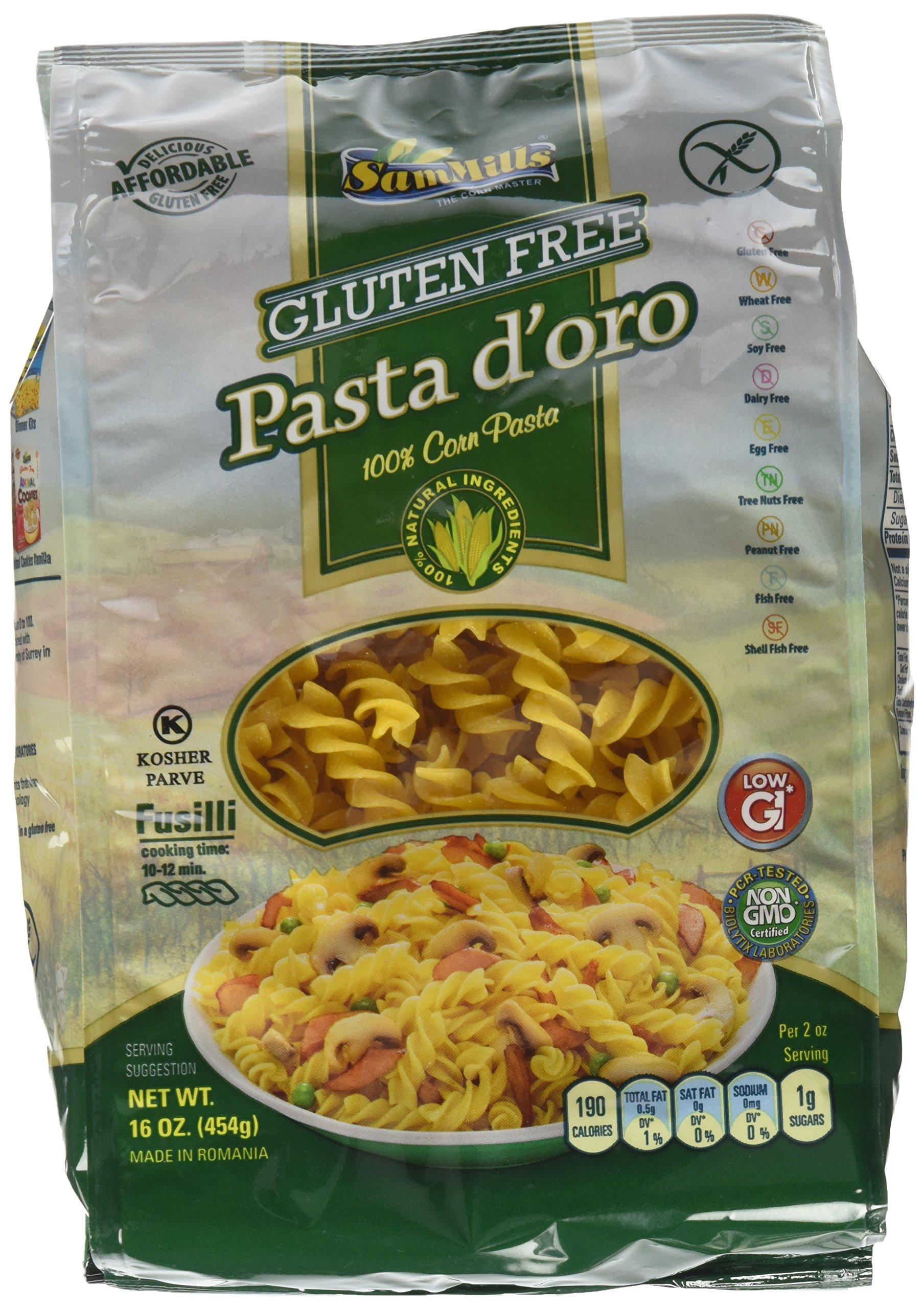Sam Mills Pasta D'Oro Gluten Free Fusilli, 16 oz (Pack of 6) by Sam Mills