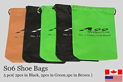 c57d25b87f8a Amazon.com : A99 Golf Portable Travel Shoe Bags Dustproof Shoe ...