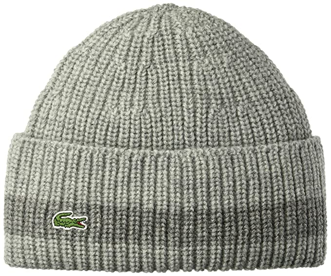 Lacoste Men s Rib Knitted Contrast Beanie 97c533269714