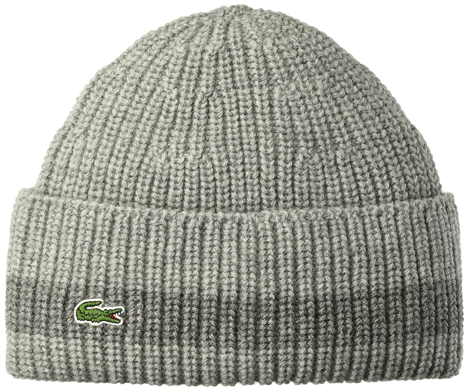 Lacoste Mens Rib Knitted Contrast Beanie Black/Black One Size Lacoste Mens accessories RB2749-51