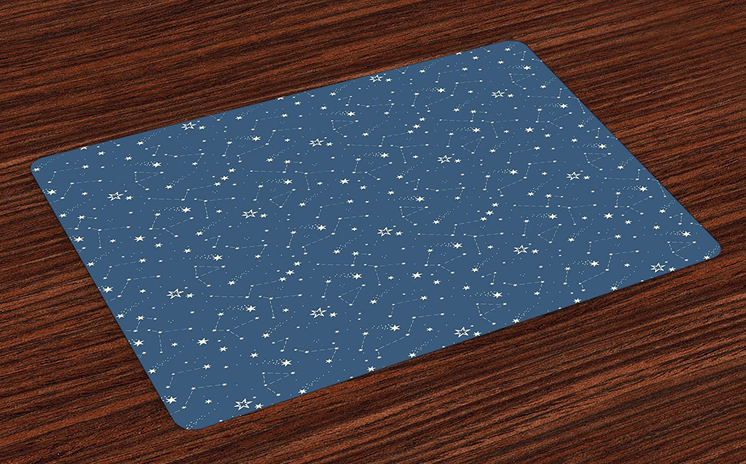 Amazon.com: Lunarable Constellation Place Mats Set of 4, Space ...