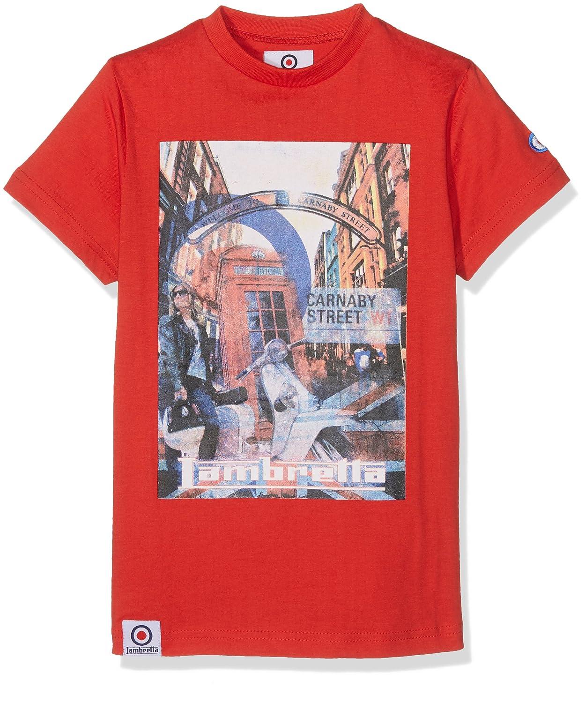 Lambretta London Life tee, Camiseta para Niños, Rojo (Red), 4-5 Años: Amazon.es: Ropa y accesorios