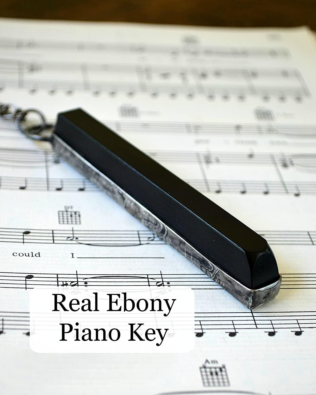 Amazon.com: Antique Ebony Piano Key, Handmade Gift for Musician or Music  Teacher, Long Musical Necklace Jewelry 2295: Handmade