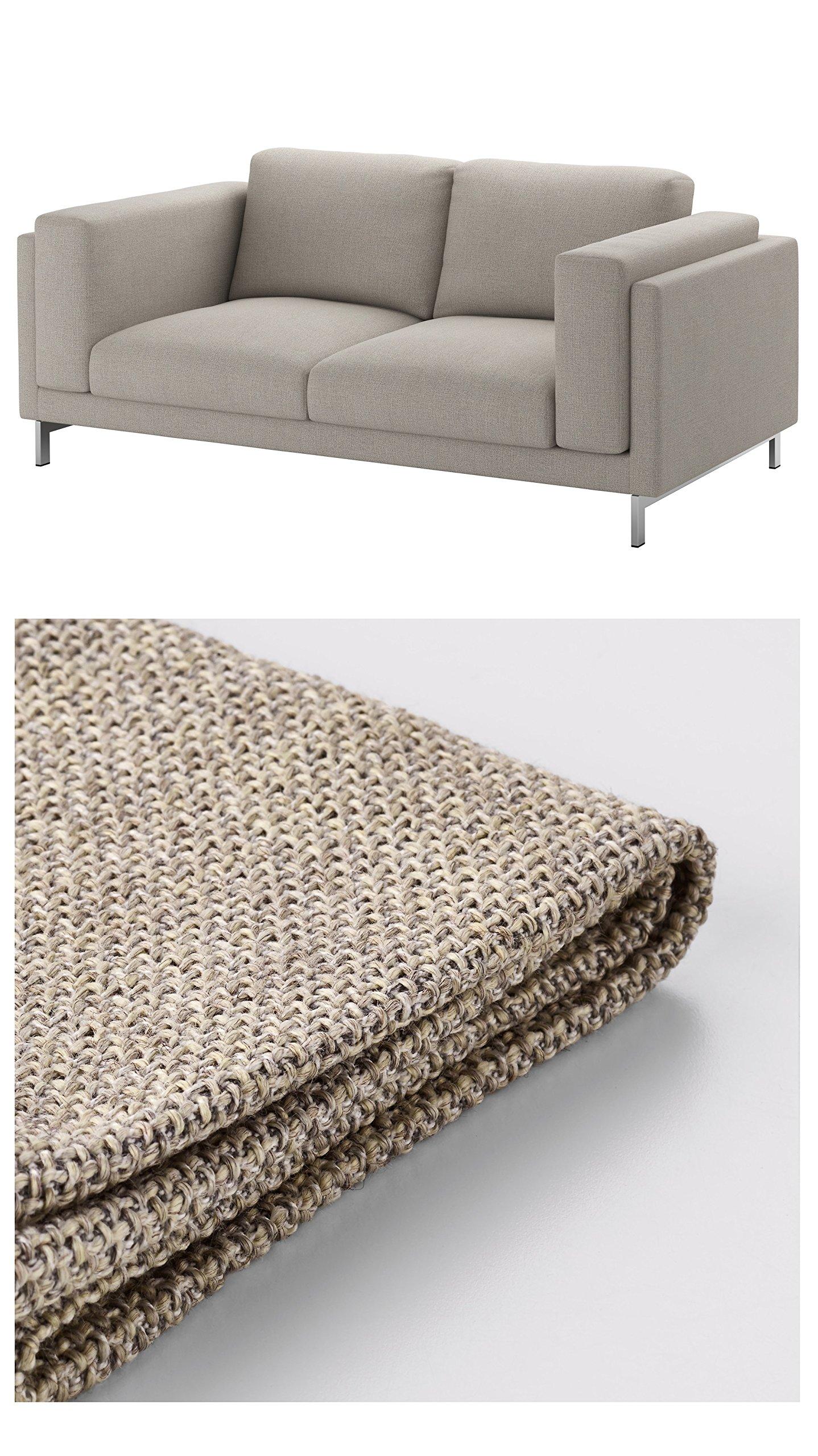 IKEA Nockeby Cover - Slipcover Set Only (Tenö Light Gray, Loveseat)