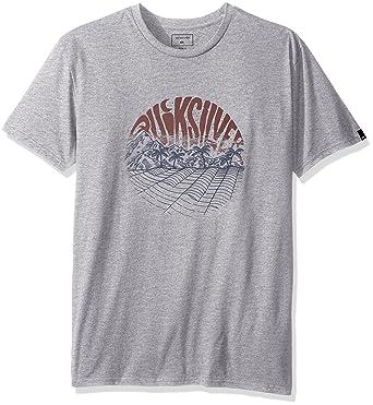 Quiksilver -Camiseta Hombre Gris Gris Large  Amazon.es  Ropa y accesorios 39fb3fefc65
