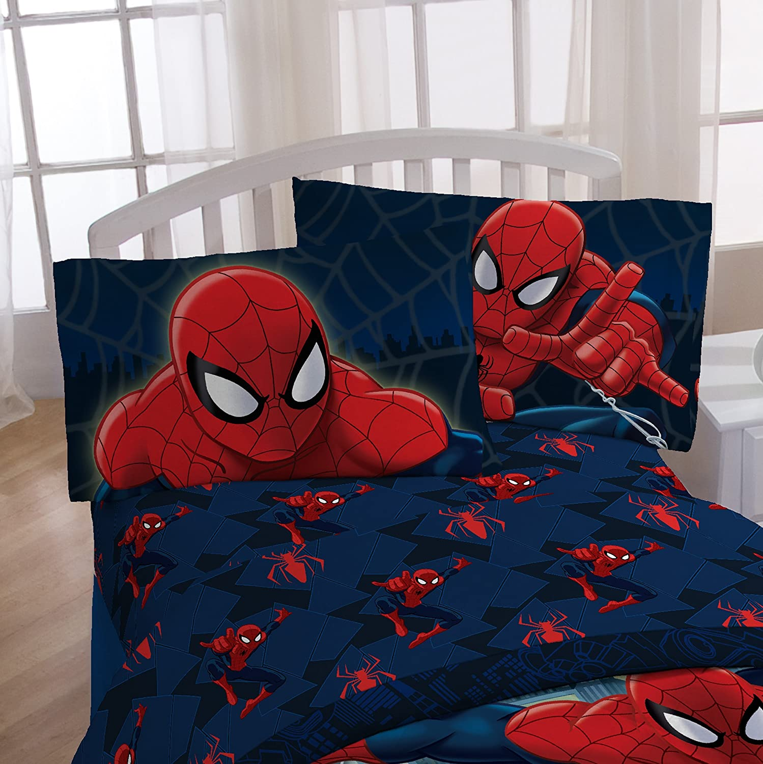 Avengers bedding set twin - Marvel Spiderman Microfiber 3 Piece Twin Sheet Set