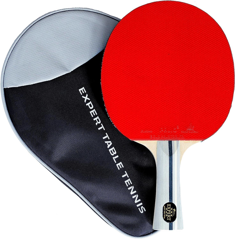 Palio Expert 3.0 - Raqueta de Tenis de Mesa y Funda, Aprobado por la ITTF, Acampanado, Pelota, Pala de Ping Pong