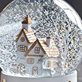 WeRChristmas White And Gold House Snow Globe